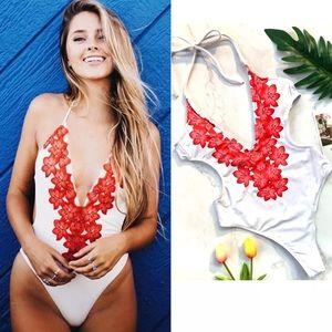 Other - 🌺SALE! White Hibiscus 🌺 Monokini